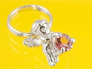 画像1: 心から誕生を祝福する天使の指輪 エンジェルベビーリング ピンクトルマリン