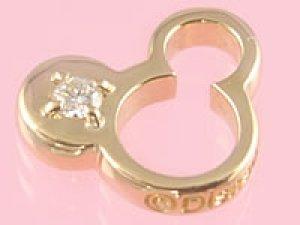画像1: 誕生石のミッキーマウスがお守りになる ゴールドディズニーベビーリング ダイアモンド