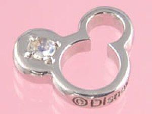 画像1: 誕生石のミッキーマウスがお守りになる ホワイトゴールドディズニーベビーリング ムーンストーン/送料無料