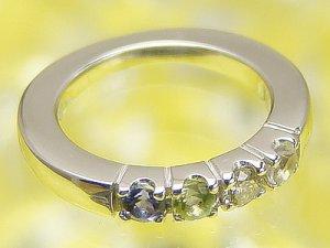 画像1: リングに刻印できて4個の宝石が選べるベビーリング サイズの大きなハーモニーリング/プラチナ