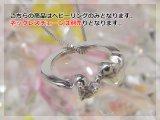 【ネックレスチェーン別売り】刻印できるダブルハートべビーリング K18ホワイトゴールド [ダイヤモンド] 刻印無料