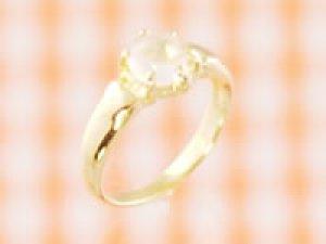 画像1: 愛あるファーストプレゼントに誕生指輪を K18ゴールドジュエルベビーリング ムーンストーン