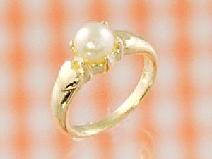 画像1: 愛あるファーストプレゼントに誕生指輪を K18ゴールドジュエルベビーリング パール