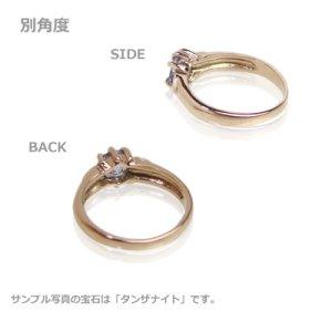 画像2: 愛あるファーストプレゼントに誕生指輪を K10ピンクゴールド ジュエルベビーリング [ブルートパーズ]