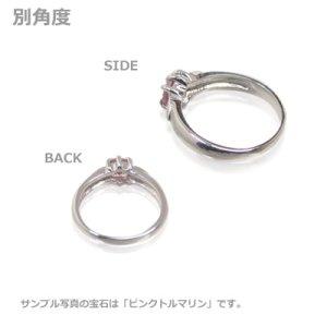 画像2: 愛あるファーストプレゼントに誕生指輪を K10ホワイトゴールド ジュエルベビーリング [ガーネット]