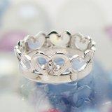 刻印できるちょっと大きめサイズのクイーンベビーリング/プラチナ900[ダイヤモンド(4月の誕生石/天然宝石)]
