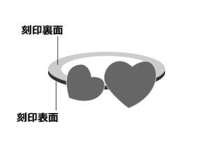 画像3: 【ネックレスチェーン別売り】刻印できるダブルハートべビーリング K18ピンクゴールド [ダイヤモンド] 刻印無料